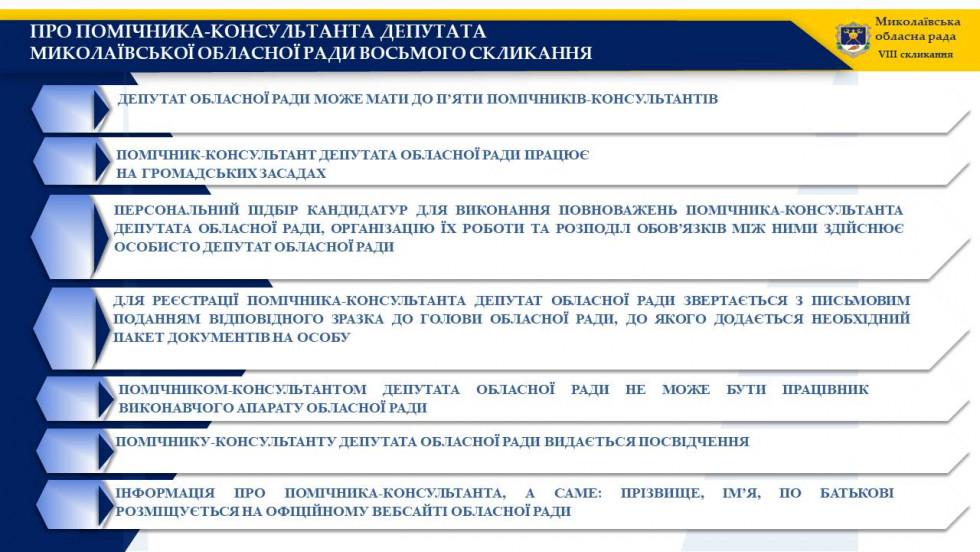 Про помічників-консультантів депутатів обласної ради